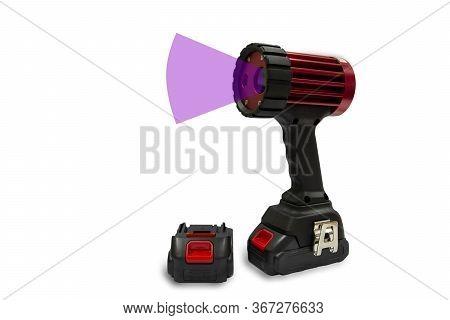 Handheld Led Uv Black Light Lamps. Handheld Led Uv Ndt Flashlights Are Mainly Used In Industrial Det