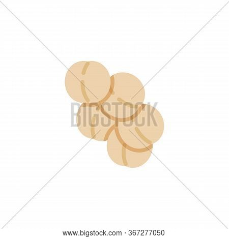 Staphylococcus Aureus Infection Flat Icon, Vector Sign, Virus Cells, Bacteria Colorful Pictogram Iso