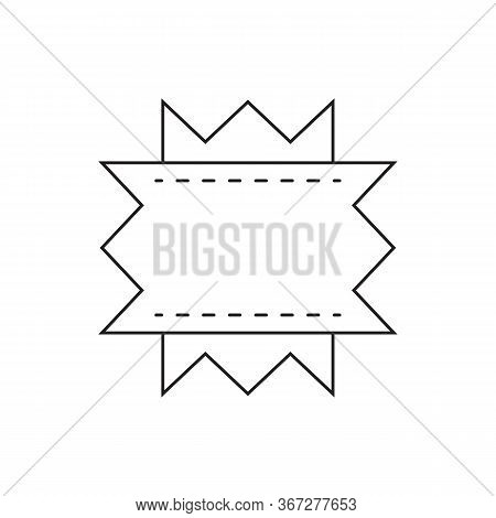 Product Label. Blank Store Tag Design For Discount Proposition. Company Or Product Brand Badge With