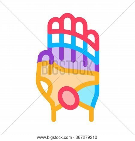 Areas Of Action On Arm Icon Vector. Areas Of Action On Arm Sign. Color Symbol Illustration