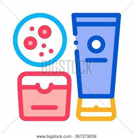 Cosmetics To Solve Problem Icon Vector. Cosmetics To Solve Problem Sign. Color Symbol Illustration