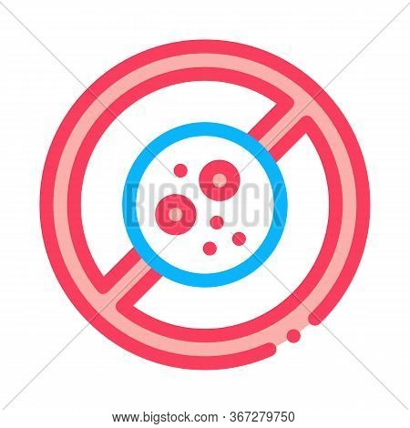 Dermatitis Prohibition Icon Vector. Dermatitis Prohibition Sign. Color Symbol Illustration