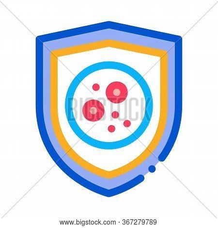 Dermatitis Problem Icon Vector. Dermatitis Problem Sign. Color Symbol Illustration