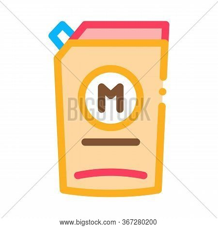 Pack Of Mayonnaise With Dispenser Icon Vector. Pack Of Mayonnaise With Dispenser Sign. Color Symbol