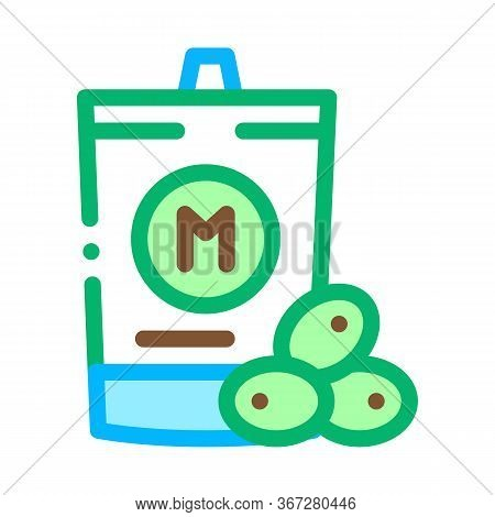 Packaged Mayonnaise Icon Vector. Packaged Mayonnaise Sign. Color Symbol Illustration