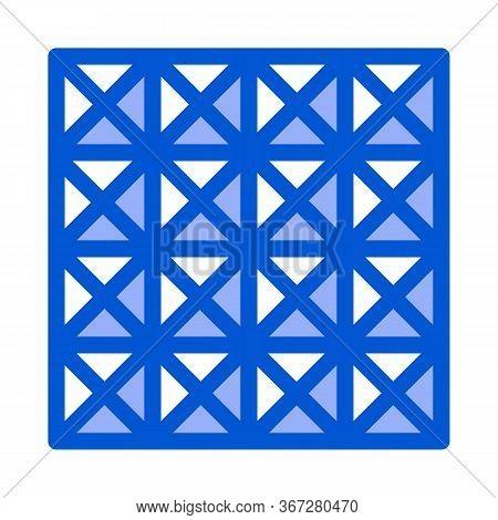 Three D Floor Tiles Icon Vector. Three D Floor Tiles Sign. Color Symbol Illustration