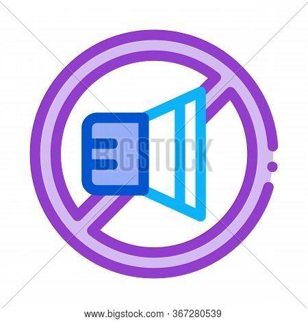 Speaker Ban Icon Vector. Speaker Ban Sign. Color Symbol Illustration