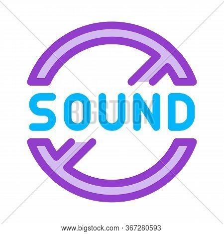 Sound Ban Icon Vector. Sound Ban Sign. Color Symbol Illustration