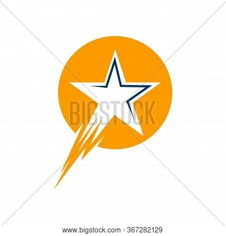 Star Vector Logo Template. Star Emblem. Celebrity Star Champion Rating Star. Star Symbol. Starburst