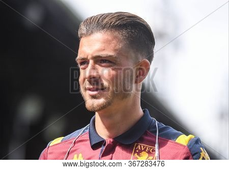 London, England - August 31, 2019: Jack Grealish Of Villa Pictured Ahead Of  The 2019/20 Premier Lea