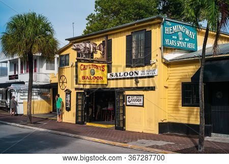 Key West, Florida, United States - July 10 2012: Captain Tony's Saloon In Key West, Florida, A Bar A