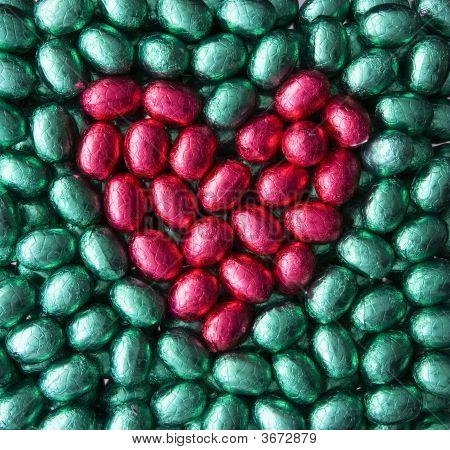 Heart From Easter Eggs