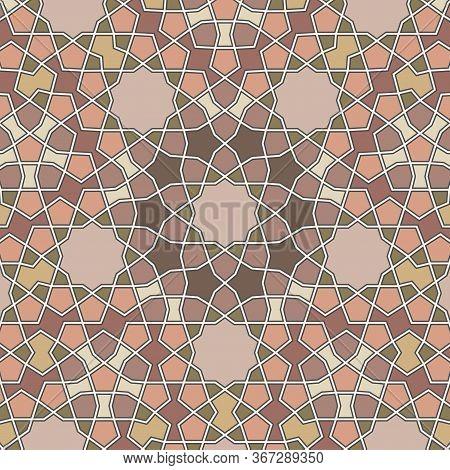 Pattern In Authentic Arabian Style. Girih Pattern. Arabian Background. Vector Illustration