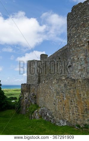 Harlech, North Wales, Uk: Jun 3, 2017: Harlech Castle Was Built By King Edward I During His Invasion