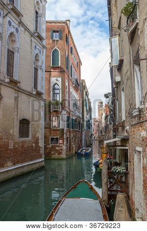 View Of The Water Channel In The Venice