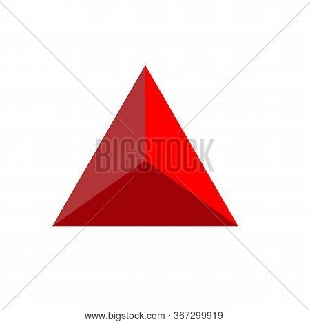 Glossy Triangle Icon On White Background. Flat Style. Triangle Logo Icon For Your Web Site Design, L