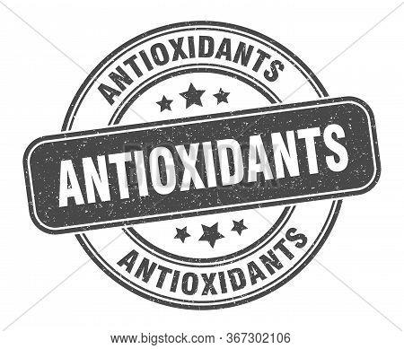 Antioxidants Stamp. Antioxidants Label. Round Grunge Sign