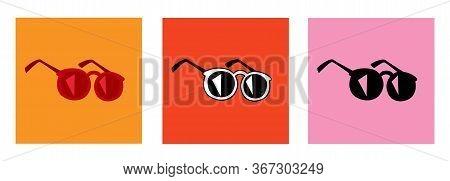 Summer Sunglasses Simple Vector Element Color Variation