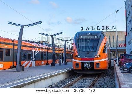 Tallinn Balti Jaam Railway Station. Estonia, Tallinn 30 November 2019