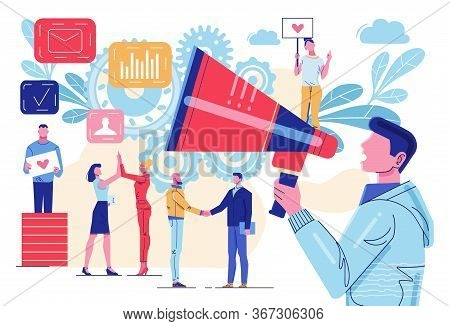 Influencer Marketing. Social Media Network Promotion. Smm Campaign. Internet Advertisement Announcem