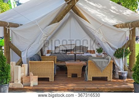 Big Luxurious Tent For Glamping Camping Adventure