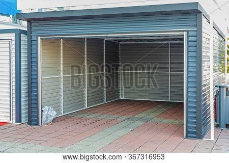 Open Door At Garage Shed Structure Building