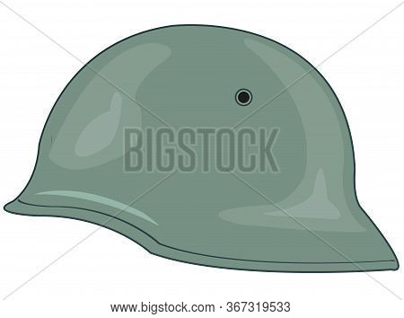 Helmet Of The German Soldier On White Background Is Insulated