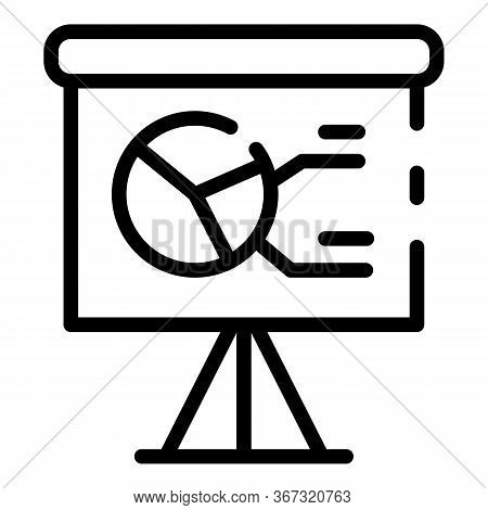 Banner Estimator Icon. Outline Banner Estimator Vector Icon For Web Design Isolated On White Backgro