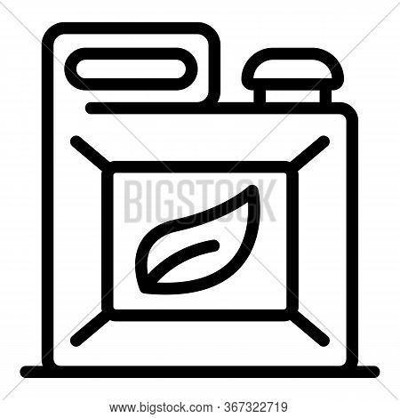 Eco Plastic Canister Icon. Outline Eco Plastic Canister Vector Icon For Web Design Isolated On White
