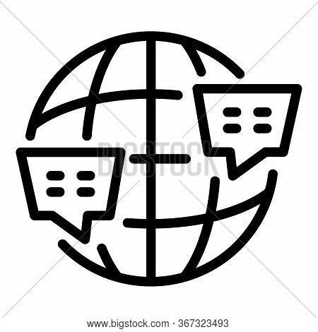 Global Foreign Language Icon. Outline Global Foreign Language Vector Icon For Web Design Isolated On