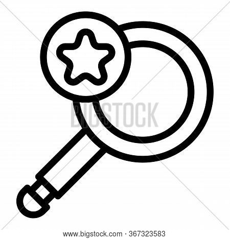 Investigator Magnifier Icon. Outline Investigator Magnifier Vector Icon For Web Design Isolated On W