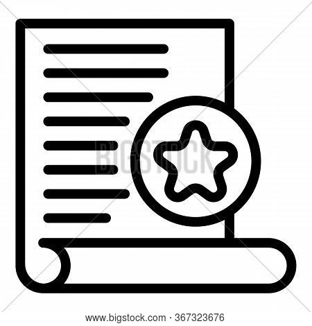 Investigator Paper Icon. Outline Investigator Paper Vector Icon For Web Design Isolated On White Bac