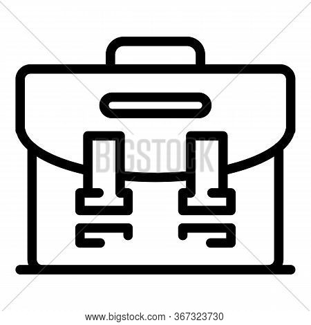 Investigator Bag Icon. Outline Investigator Bag Vector Icon For Web Design Isolated On White Backgro