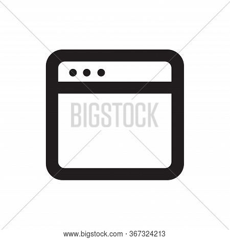 Browser Icon Isolated On White Background. Browser Icon In Trendy Design Style For Web Site And Mobi