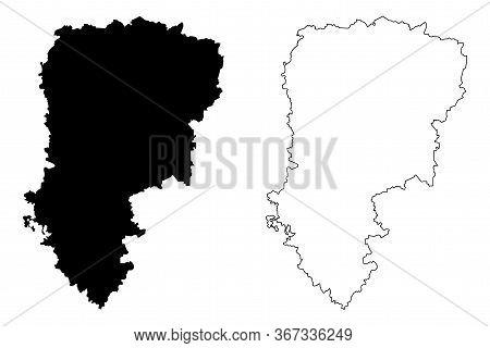 Aisne Department (france, French Republic, Hauts-de-france Region) Map Vector Illustration, Scribble