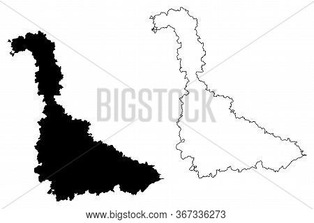 Meurthe-et-moselle Department (france, French Republic, Grand Est Region) Map Vector Illustration, S