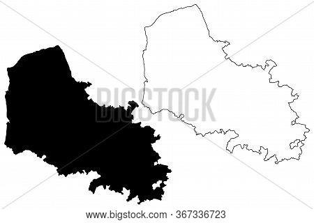 Pas-de-calais Department (france, French Republic, Hauts-de-france Region) Map Vector Illustration,