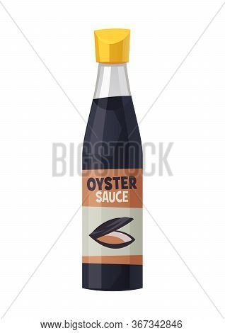 Oyster Sauce Bottle Isolated On White Background Vector