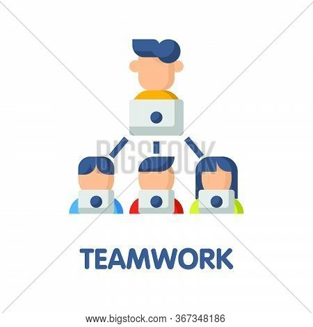 Teamwork Flat Icon Style Design Illustration On White Background