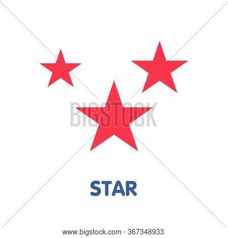 Star Flat Icon Design Style Illustration On White Background