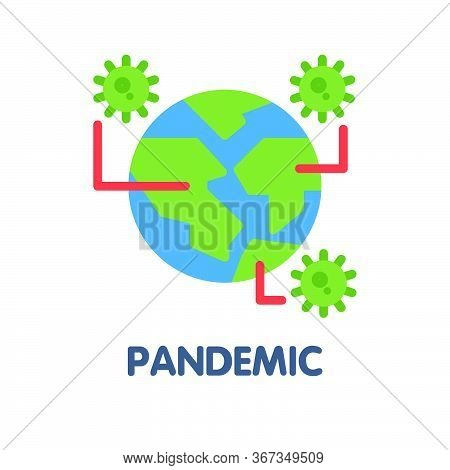Pandemic Flat Icon Style Design Illustration On White Background