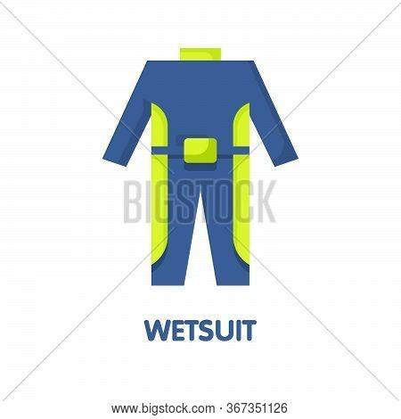 Wetsuit Flat Icon Design