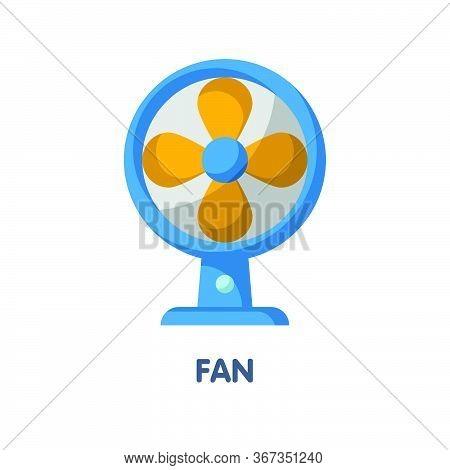 Fan Flat Icon Design
