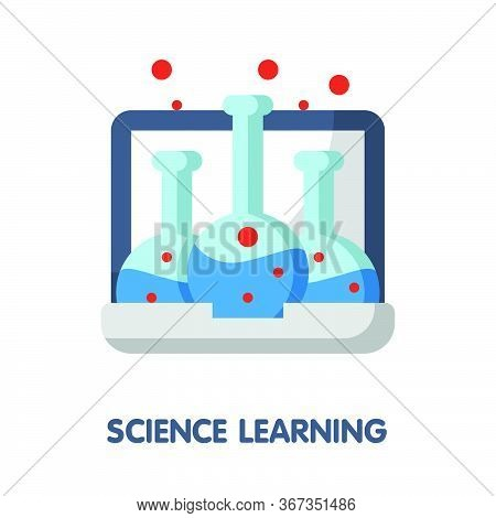 Science Learning  Flat Style Icon Design  Illustration On White Background