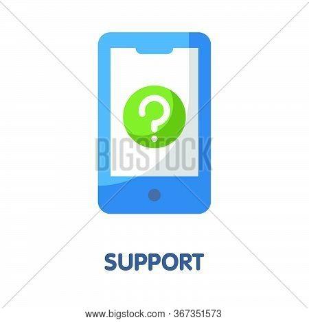 Support Admin  Flat Style Icon Design  Illustration On White Background