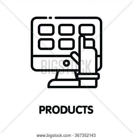 Icon Products Outline Style Icon Design  Illustration On White Background