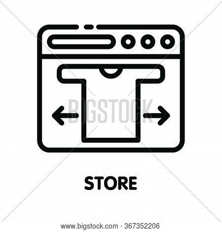 Icon Shirt Store  Outline Style Icon Design  Illustration On White Background