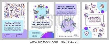 Social Service And Your Family Brochure Template. Youth Welfare. Flyer, Booklet, Leaflet Print, Cove