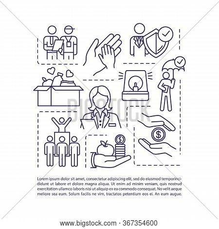 Human Welfare Concept Icon With Text. Help For Family In Need. Charity Support. Social Service. Ppt