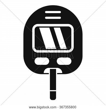 Glucose Meter Icon. Simple Illustration Of Glucose Meter Vector Icon For Web Design Isolated On Whit